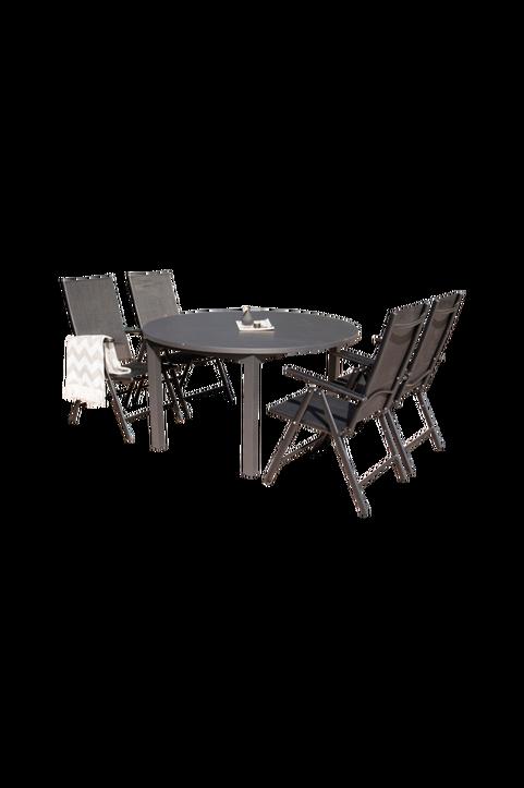 Malaga matbord och 4st Bliss mat stol