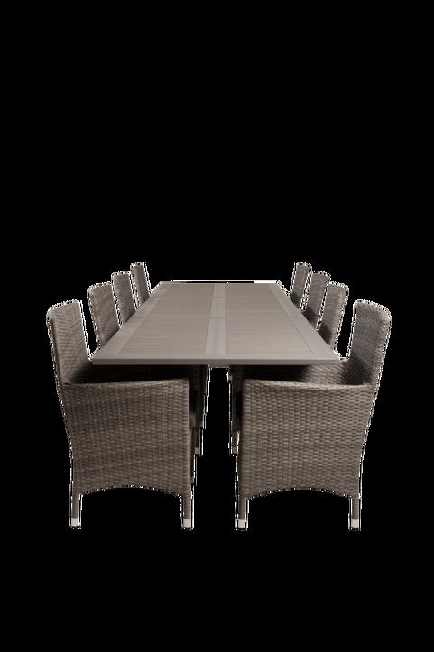 Matbord Athena och 8st Meja mat stol