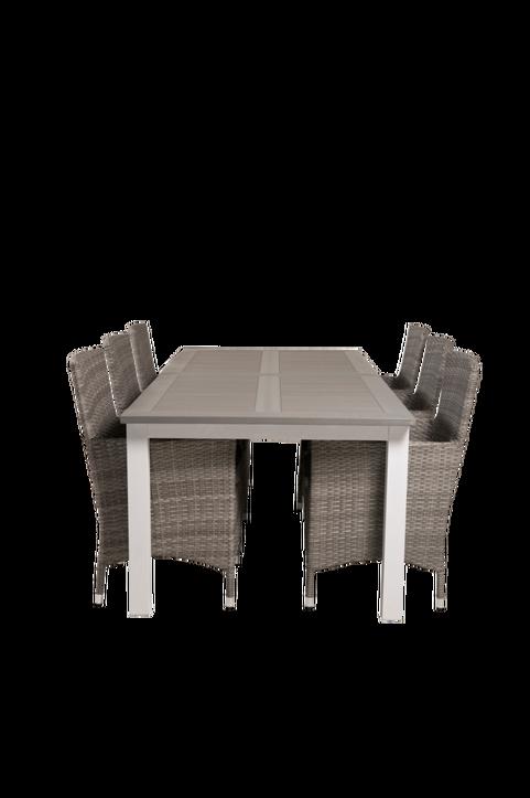 Matbord Athena och 6st Meja mat stol