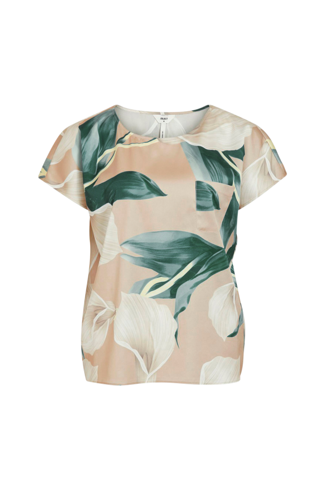 Se Object Bluse objFania Urban S/S Top ved Ellos