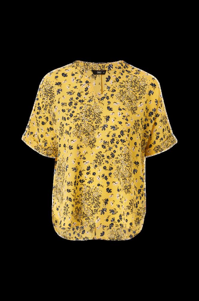 Only Bluse onlNova Lux S/S V-neck Shirt Aop Wvn