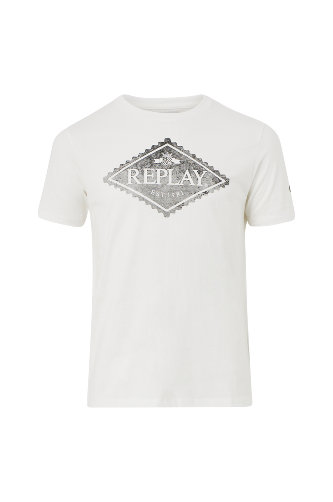 Replay T-shirt af økologisk bomuld