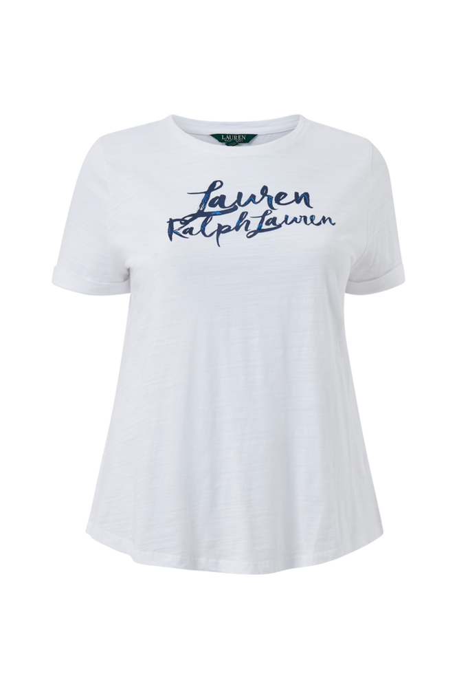 Lauren Ralph Lauren Curve Top Indie Ctn Slub Jrsy-Ssl-Knt