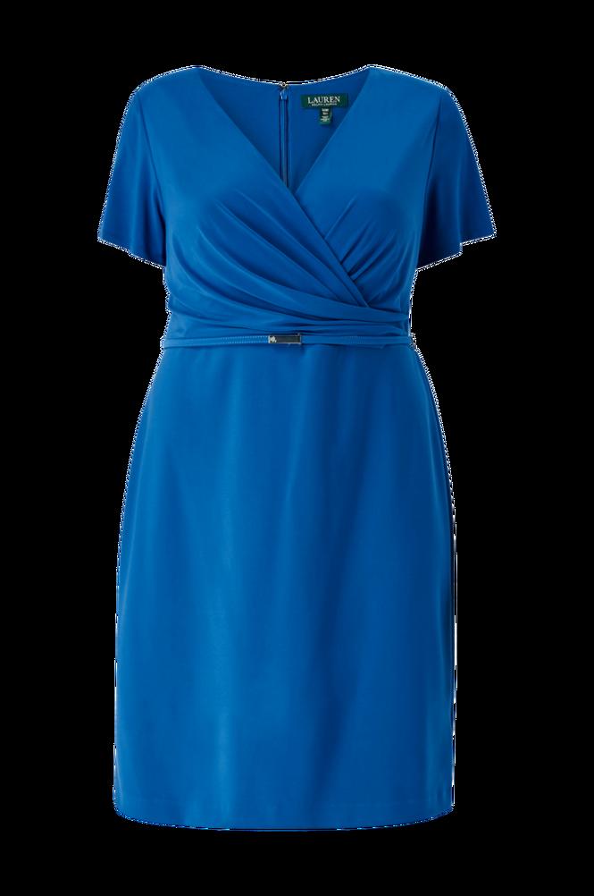 Lauren Ralph Lauren Curve Kjole Bonded Mj Dress W Belt