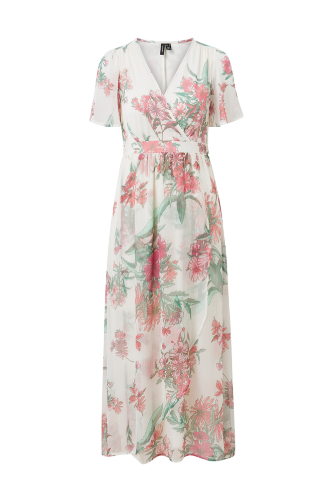 Vero Moda Maxikjole vmWonda S/S Wrap Maxi Dress