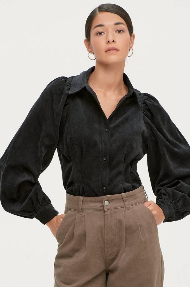 Gina Tricot Fløjlsskjorte Ariella Corduroy Shirt