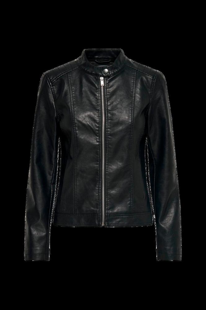 Jacqueline de Yong Jakke jdyStormy Faux Leather Jacket