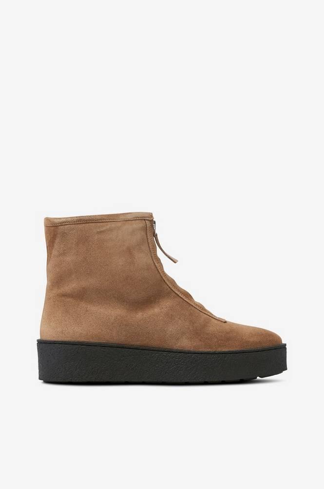 billi bi Varmforede boots af ruskind