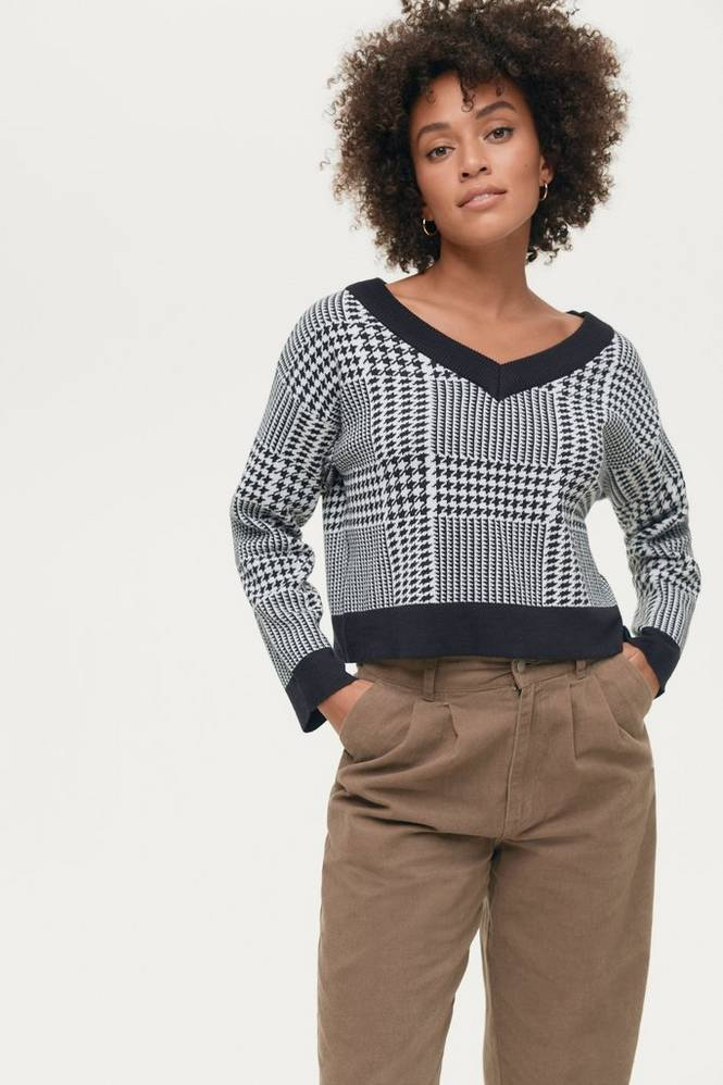 Gina Tricot Trøje Carro Knitted Sweater