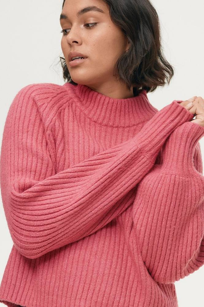 Se Gina Tricot Trøje Rosie Knitted Sweater ved Ellos