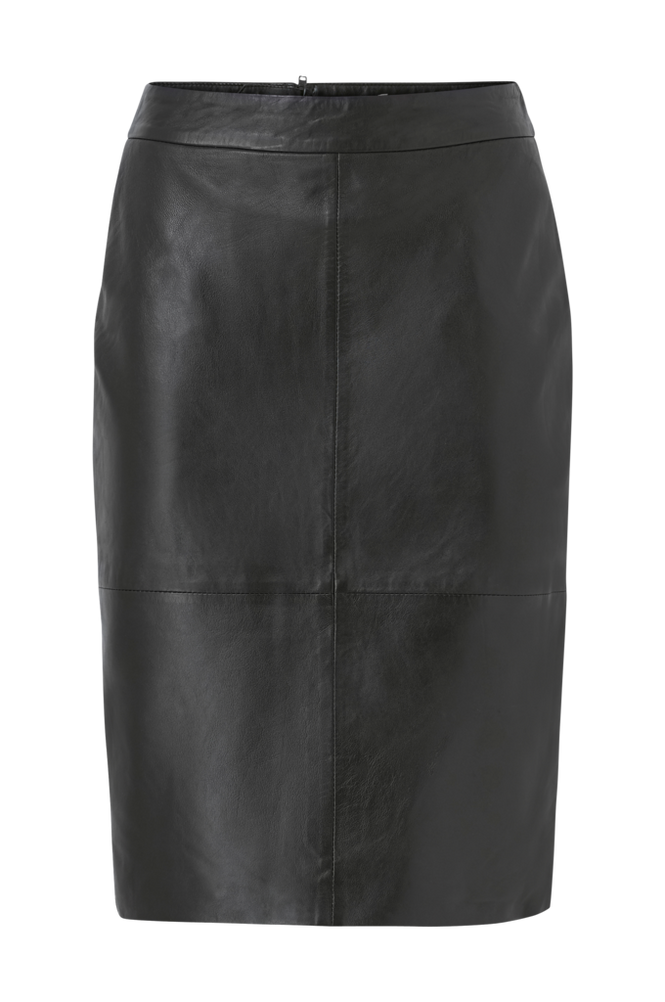 Selected Femme Nederdel slfMaily HW Leather Skirt