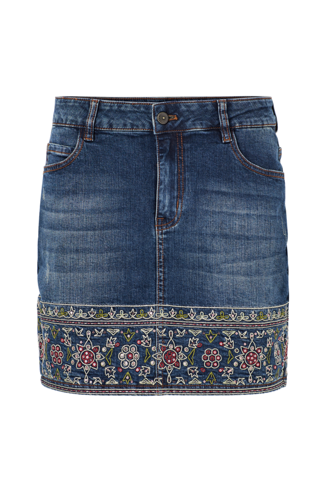Desigual Denimnederdel Denim Skirt Mini