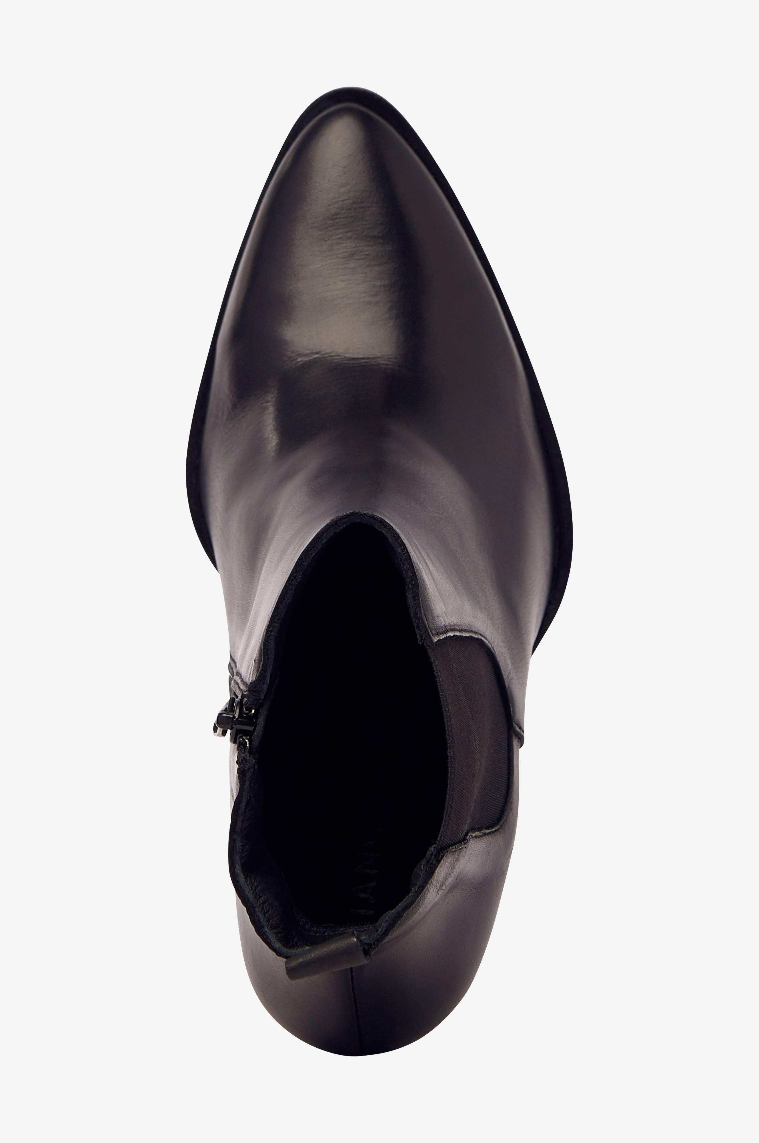 Bianco Boots biaJudia Leather Boot Svart Boots Ellos.se