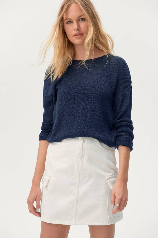 Gina Tricot Denimnederdel Cargo Denim Skirt