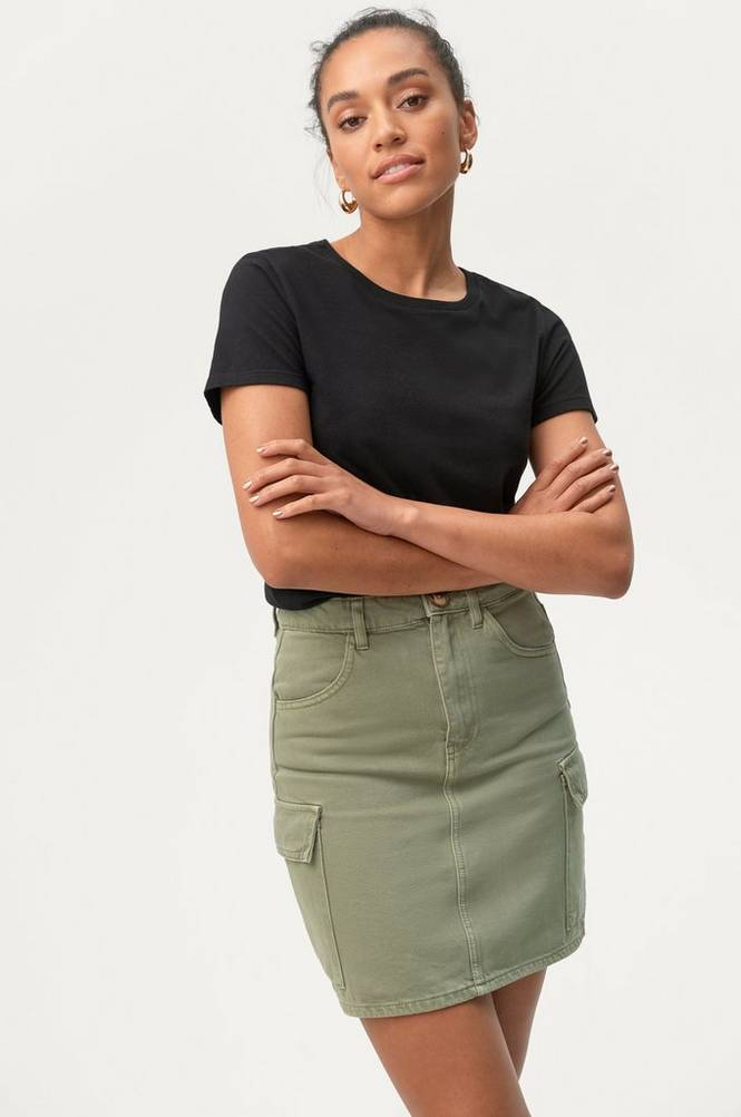 Gina Tricot Denimnederdel Cargo Denim Skirt