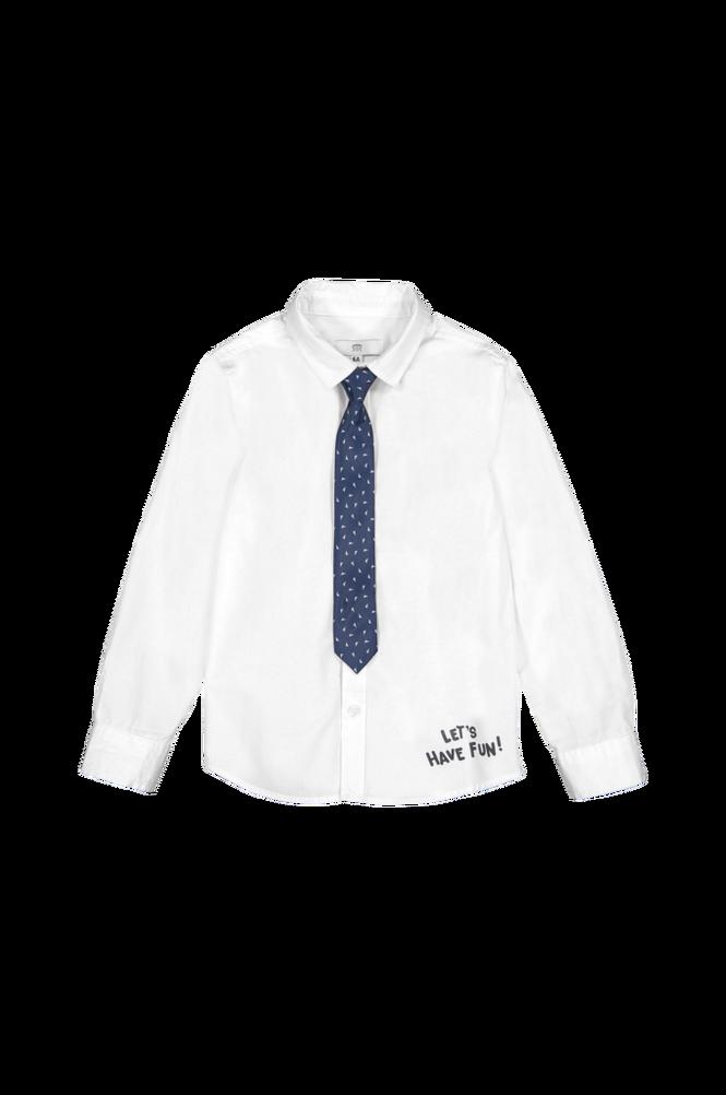 La Redoute Skjorte med slips og tekstmotiv