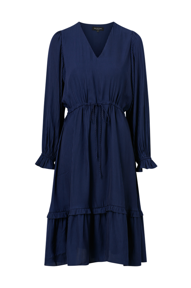 Selected Femme Kjole slfCallie-Damina LS Midi Dress