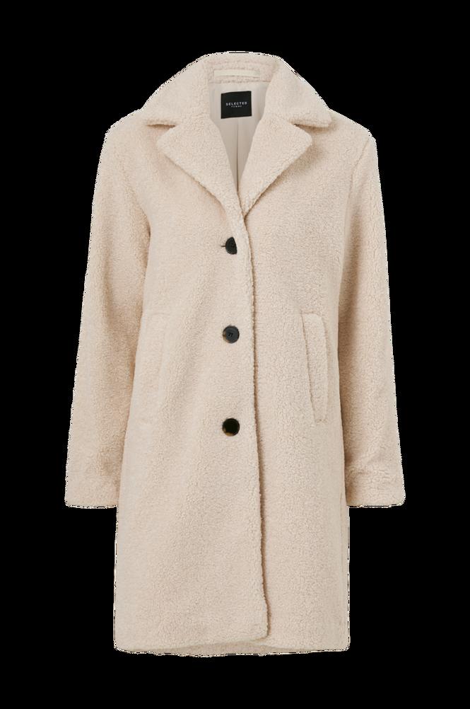 Selected Femme Plysfrakke slfNanna Teddy Coat