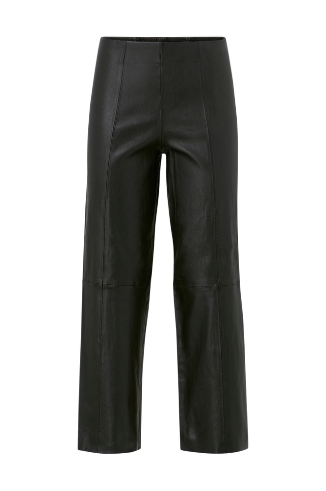 Selected Femme Bukser slfAnna Crop Wide Stretch Leather Pants