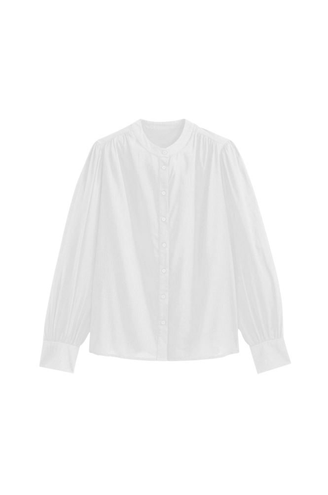 La Redoute Skjorte med rund halsudskæring og langt pufærme