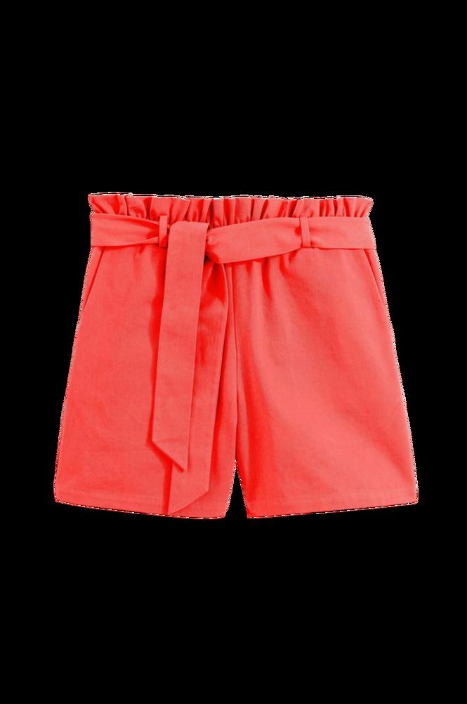 La Redoute Shorts i ren bomuld, med bindebælte
