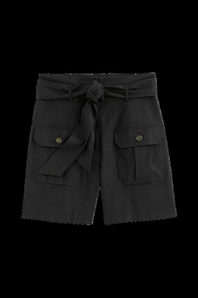 La Redoute Shorts i hørblanding med bindebælte