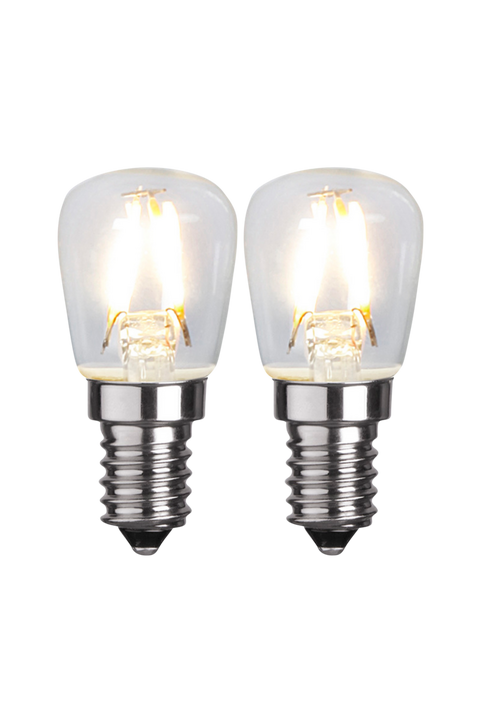 LED-Lampa E14 2-Pack Clear