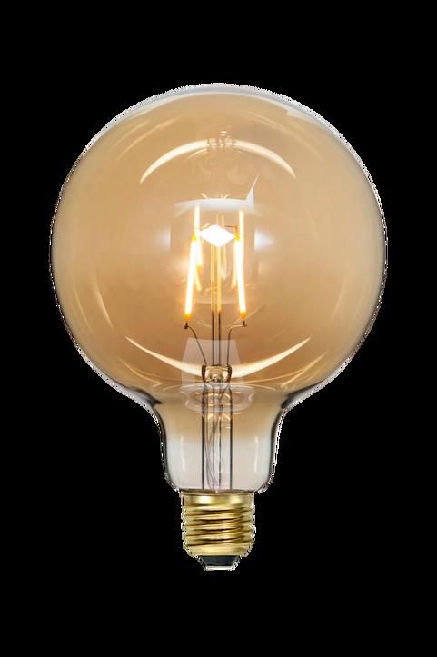 LED-Lampa E27 G125 Plain Amber