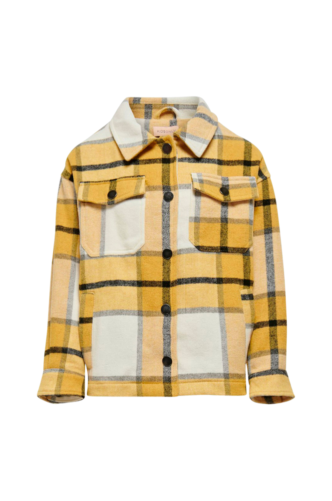 KIDS ONLY Skjortejakke konEllene-Valda L/S Check Shacket