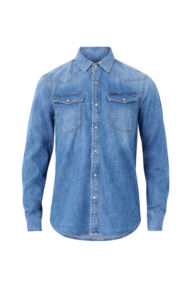 G-Star Denimskjorte 3301 Slim Shirt L/S