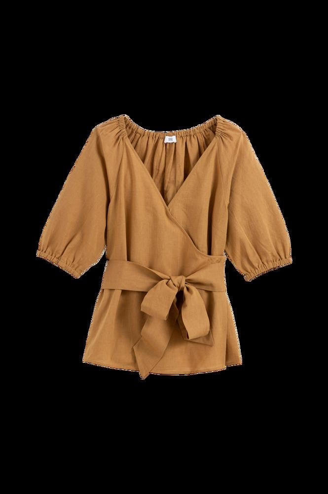 La Redoute Slå om-bluse med 3/4-langt ærme