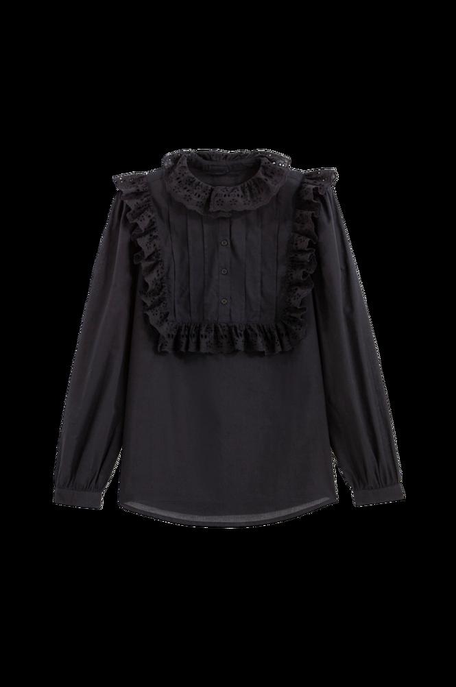 La Redoute Bluse med standkrave og langt ærme