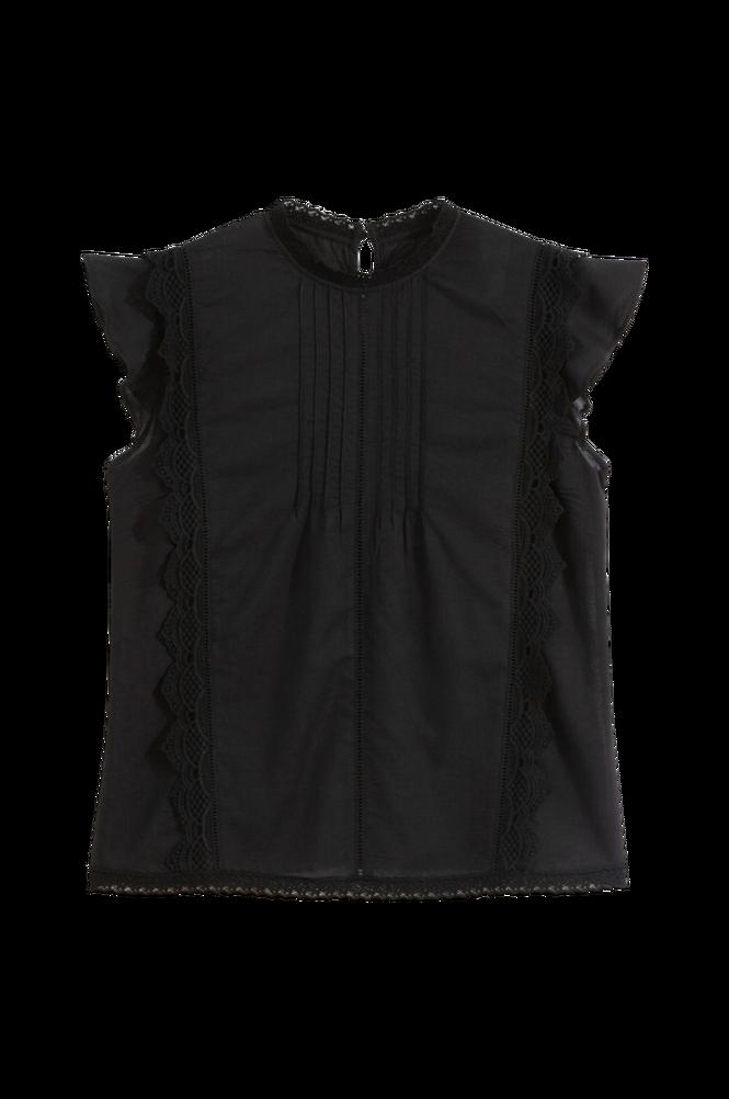 La Redoute Ærmeløs bluse med standkrave