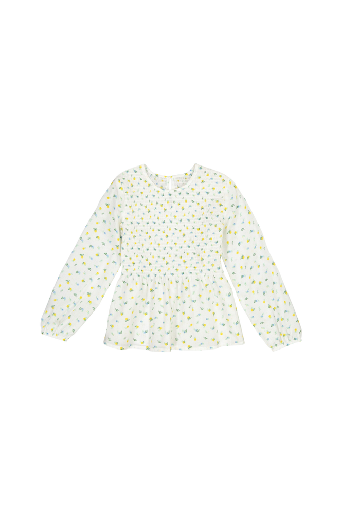 La Redoute Blomstret bluse med langt ærme