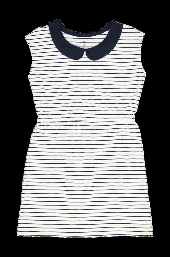 La Redoute Ærmeløs, stribet kjole med rund krave