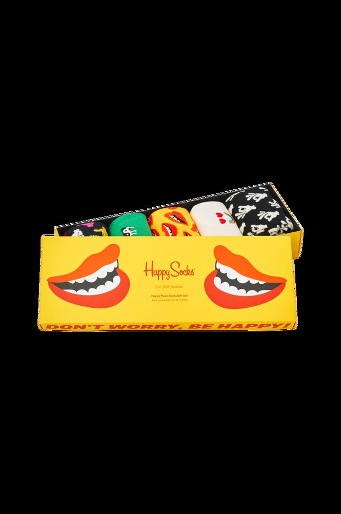 Strømper 5-pak Don´t Worry, Be Happy Socks Gift Set