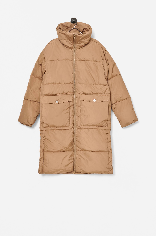 I dig denim - Jacka Clay Long Puffer Jacket - Natur