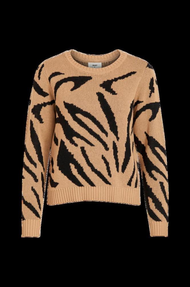 Object Trøje objGraz Animal L/S Pullover
