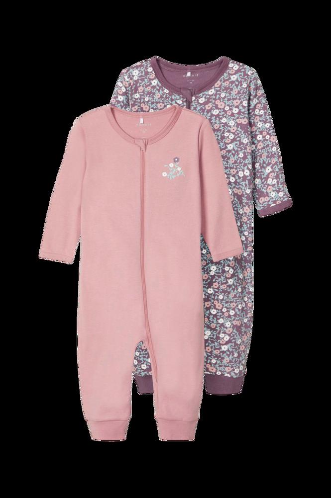 Name it Pyjamas nbfNightsuit 2p Zip Black Plum Flo