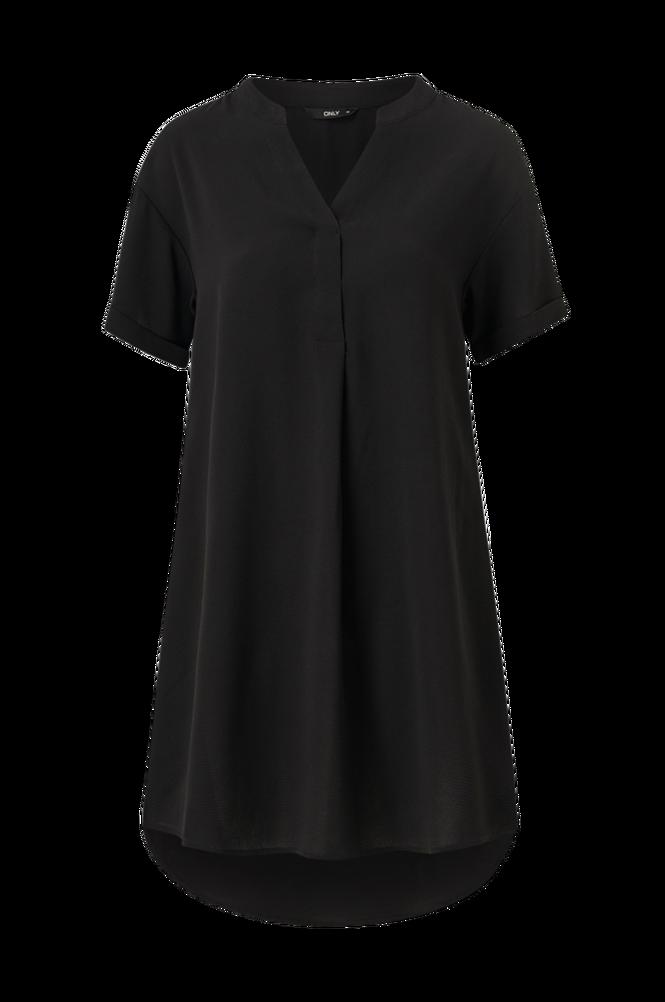 Only Kjole onlNova Lux S/S V-neck Dress Solid