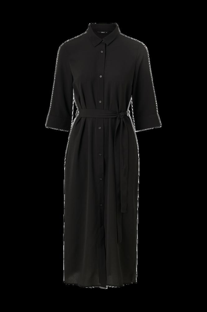 Only Skjortekjole onlNova Lux 3/4 Shirt Dress Solid Wvn
