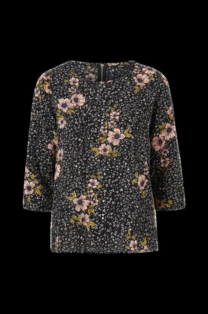 Only Bluse onlNova Lux 3/4 Sleeve Top Aop Wvn