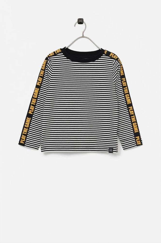 Me Too T-shirt med tekstilbånd på ærmerne