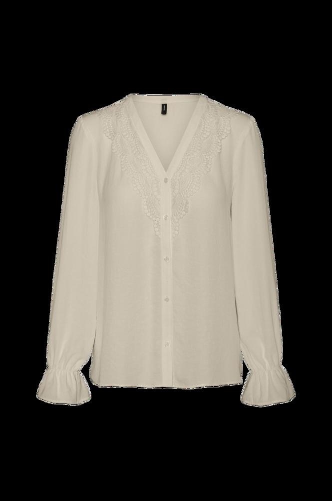 Vero Moda Bluse vmZigga L/S Lace Shirt