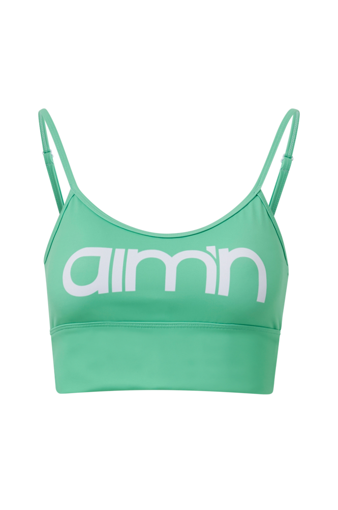 Aim'n Sports-bh Mint Logo Strap Bra