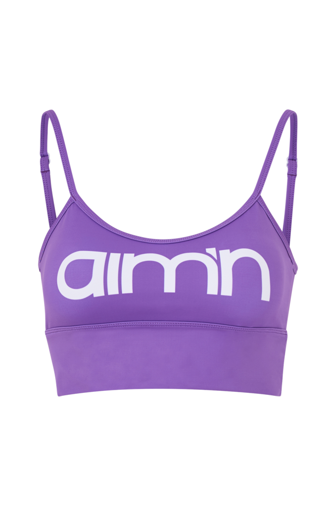 Aim'n Sports-bh Purple Logo Strap Bra