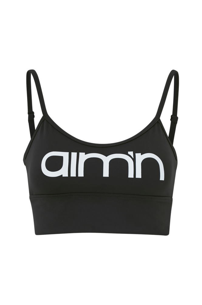 Aim'n Sports-bh Black Logo Strap Bra
