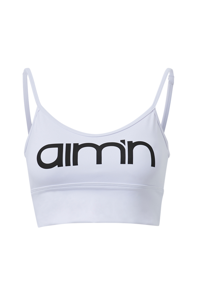 Aim'n Sports-bh White Logo Strap Bra