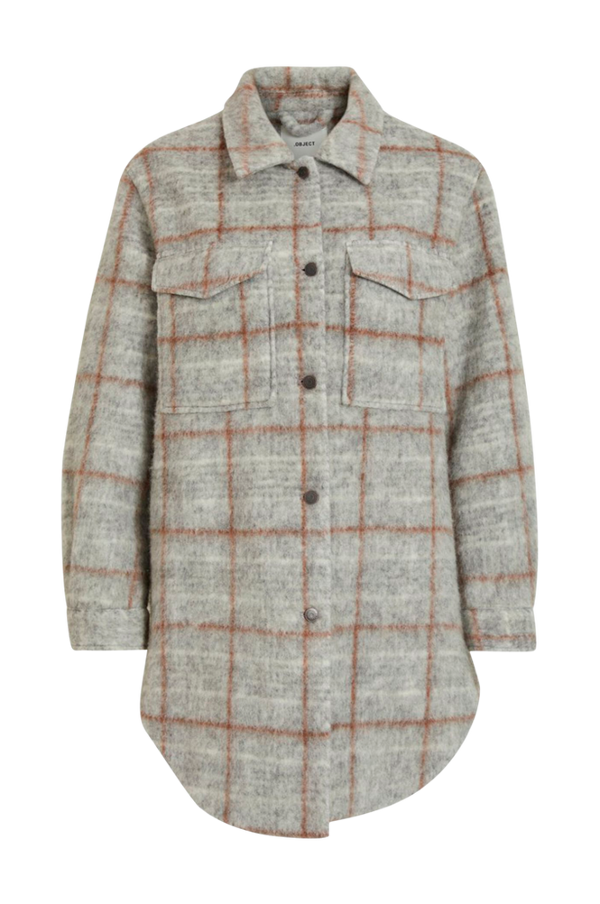 Object Skjortejakke objSola Long Shirt 110