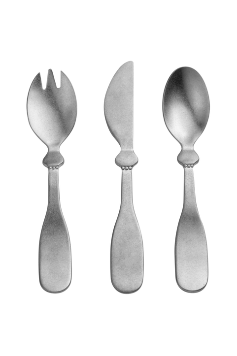 Children's Cutlery set - Antique Silver